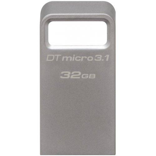 Фото Накопитель Kingston DataTraveler Micro USB 3.1 32GB Metal (DTMC3/32GB)