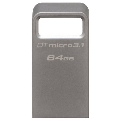 Фото Накопитель Kingston DataTraveler Micro USB 3.1 64GB Metal (DTMC3/64GB)