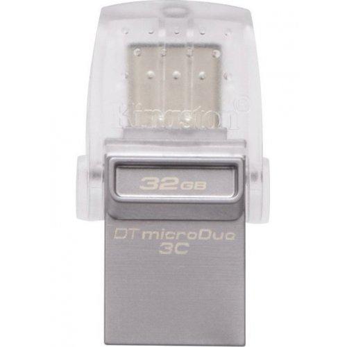 Фото Накопитель Kingston DataTraveler MicroDuo 3C/USB 3.1 32GB Metal (DTDUO3C/32GB)
