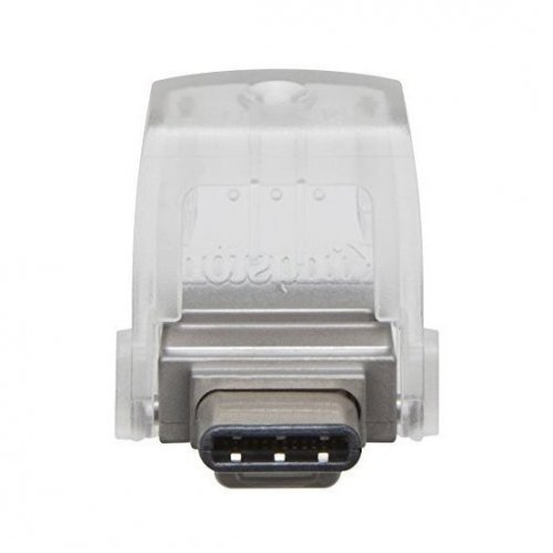 Фото Накопитель Kingston DataTraveler MicroDuo 3C/USB 3.1 64GB Metal (DTDUO3C/64GB)