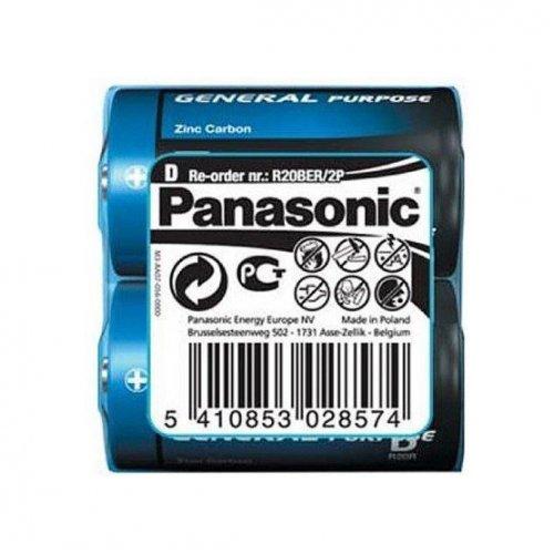 Фото Батарейки Panasonic D (LR20) 2шт (R20BER/2P)