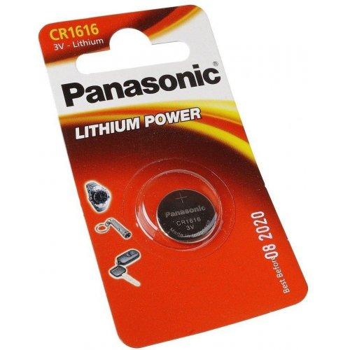 Фото Батарейки Panasonic CR1616 Lithium 1шт (CR-1616EL/1B)