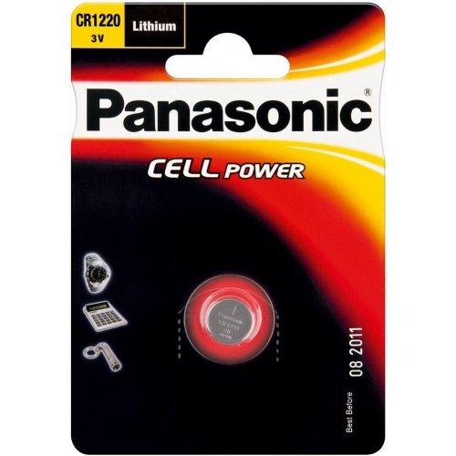 Фото Батарейки Panasonic CR1220 Lithium 1шт (CR-1220EL/1B)