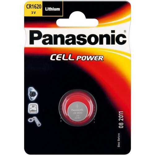 Фото Батарейки Panasonic CR1620 Lithium 1шт (CR-1620EL/1B)