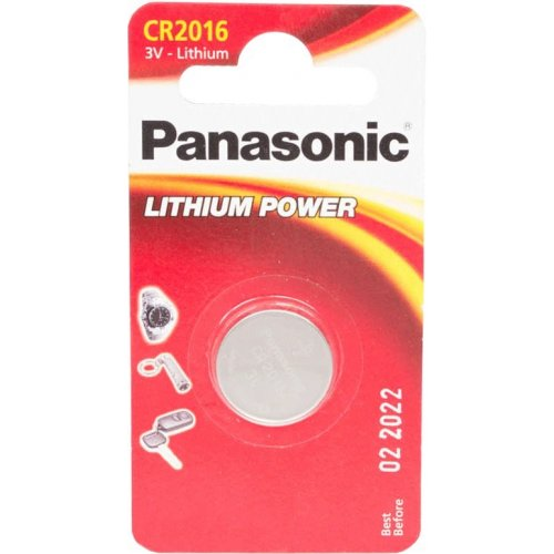 Фото Батарейки Panasonic CR2016 Lithium 1шт (CR-2016EL/1B)