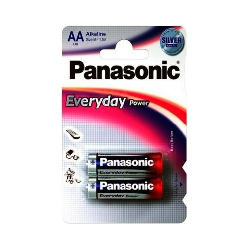 Фото Батарейки Panasonic AA (LR06) Everyday Power 2шт (LR6REE/2BR)