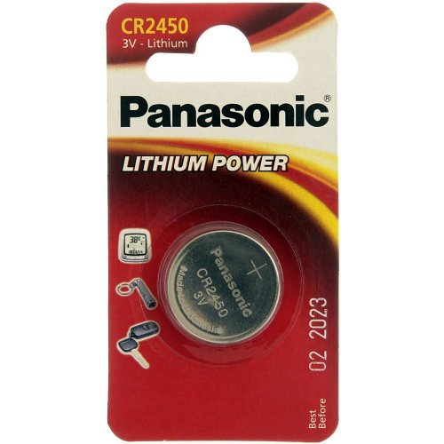 Фото Батарейки Panasonic CR2450 Lithium 1шт (CR-2450EL/1B)