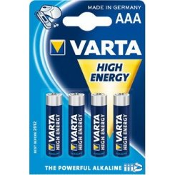 Фото Varta AAA (LR03) High Energy 4шт (04903121414)