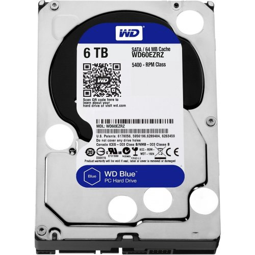 Фото Жесткий диск Western Digital Blue Desktop 6TB 64Mb 3.5
