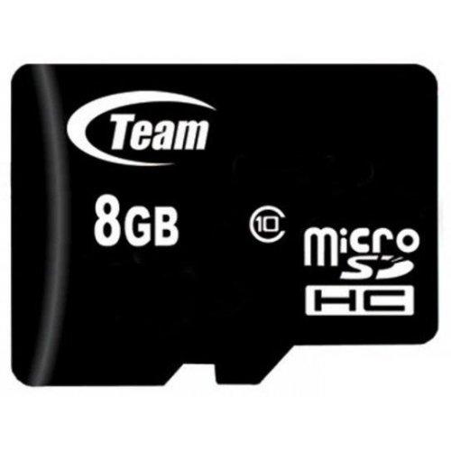 Фото Карта памяти Team microSDHC 8GB Class 10 (без адаптера) (TUSDH8GCL1002)