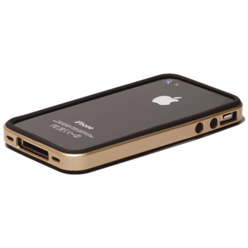 Фото Чехол Verus Crutial Mix Bumper Apple iPhone 4S Black/Gold