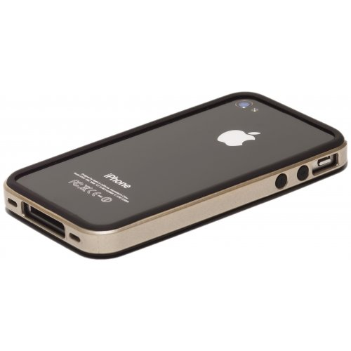 Фото Чехол Verus Crutial Mix Bumper Apple iPhone 4S Black/Silver