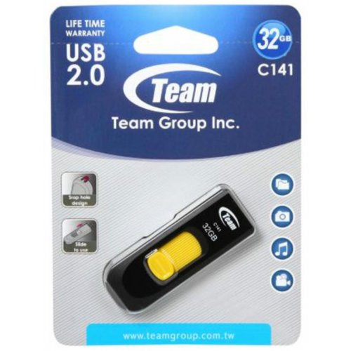 Фото Накопитель Team C141 32GB Yellow (TC14132GY01)