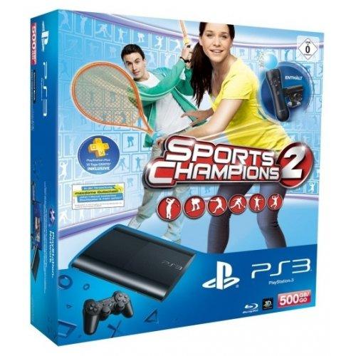 Фото Sony PS3 Super Slim 500GB + игра Sports Champions 2 + Move Starter Pack