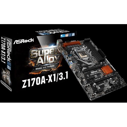 Фото Материнская плата AsRock Z170A-X1/3.1 (s1151, Intel Z170)