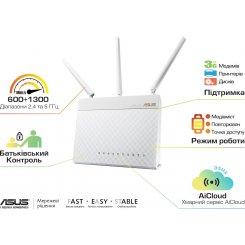 Фото Wi-Fi роутер Asus RT-AC68U White