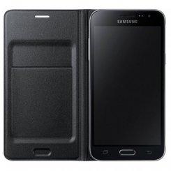 Фото Чехол Samsung Flip Wallet для Galaxy J3 2016 (EF-WJ320PBEGRU) Black