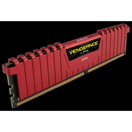 Фото ОЗУ Corsair DDR4 16GB (2x8GB) 3000Mhz Vengeance LPX (CMK16GX4M2B3000C15R) Red