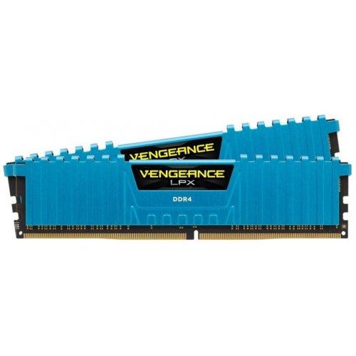 Фото ОЗУ Corsair DDR4 16GB (2x8GB) 3000Mhz Vengeance LPX Blue (CMK16GX4M2B3000C15B)