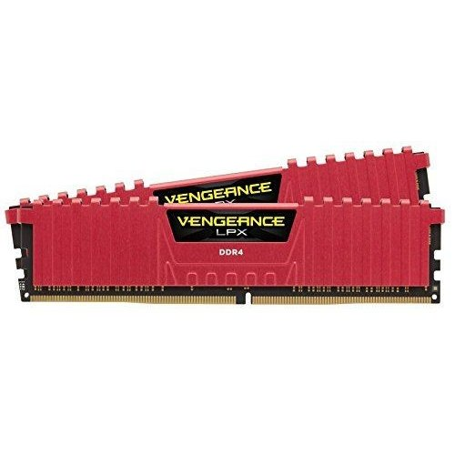 Фото ОЗУ Corsair DDR4 16GB (2x8GB) 2666Mhz Vengeance LPX Red (CMK16GX4M2A2666C16R)
