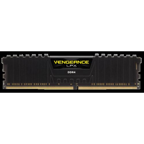 Фото ОЗУ Corsair DDR4 16GB (2x8GB) 2666Mhz Vengeance LPX (CMK16GX4M2A2666C16) Black