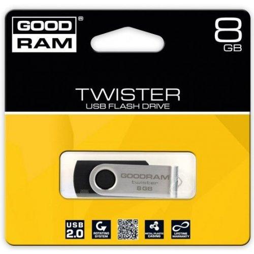 Фото Накопитель GoodRAM UTS-2 Twister 8GB Black (UTS2-0080K0R11)