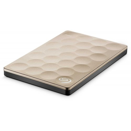 Фото Внешний HDD Seagate Backup Plus Ultra Slim 2TB STEH2000201 Gold