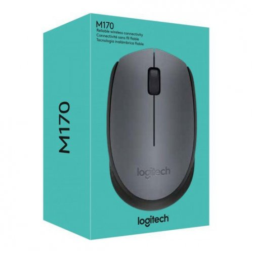Фото Мышка Logitech Wireless Mouse M170 Grey