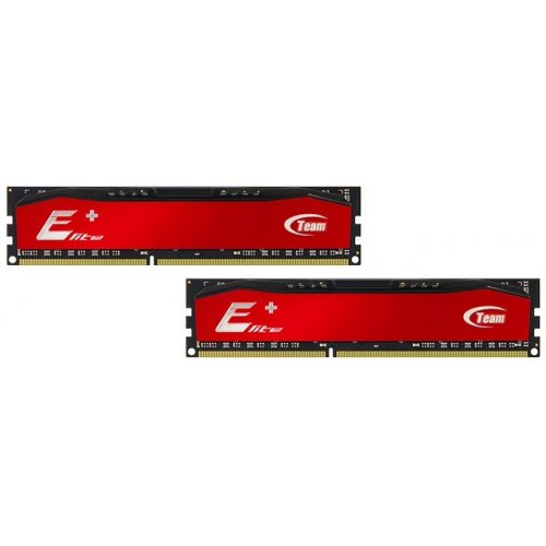 Купить Модули памяти, Team DDR4 16GB (2x8GB) 2400Mhz Elite Plus Red (TPRD416G2400HC16DC01)