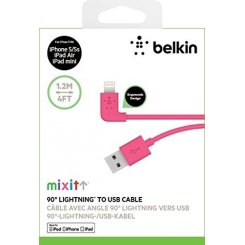 Фото USB Кабель Belkin MIXIT Flat Lightning 1.2m (F8J148bt04) Pink