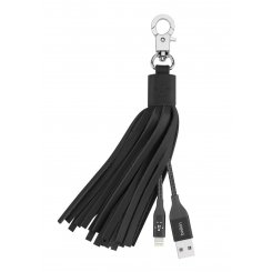 Фото USB Кабель Belkin MIXIT Leather Tassel Lightning Black (F8J174bt06IN) Black