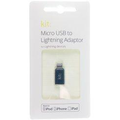 Фото USB Кабель Kit Lightning to Micro USB (MILIADPKT) Black