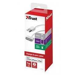 Фото USB Кабель Trust Apple 30-pin White
