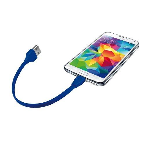 Фото USB Кабель Trust URBAN Flat Micro USB 0.2m Blue