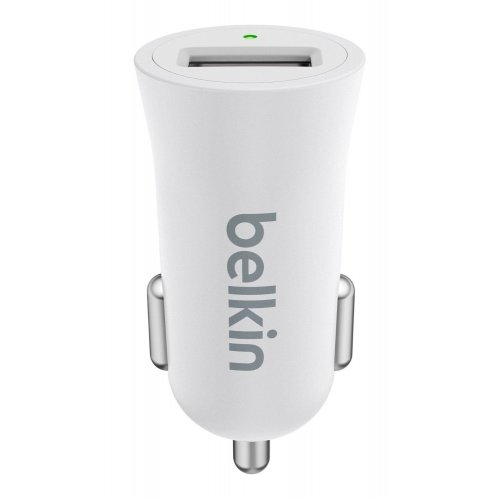 Фото Автомобильное зарядное устройство Belkin MIXIT Metallic 2.4A (F8M730bt) White