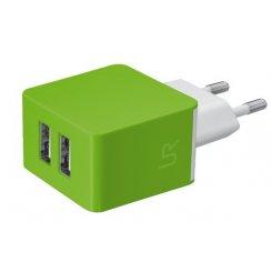 Фото Сетевое зарядное устройство Urban Revolt Wall 2xUSB 1A Lime