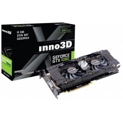 Фото Видеокарта Inno3D GeForce GTX 1080 HerculeZ Twin X2 8192MB (N1080-1SDN-P6DN)