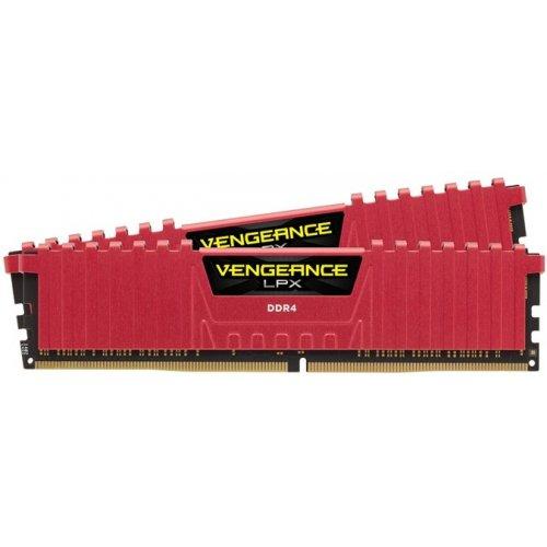Фото ОЗУ Corsair DDR4 16GB (2x8GB) 2400Mhz Vengeance LPX Red (CMK16GX4M2A2400C16R)