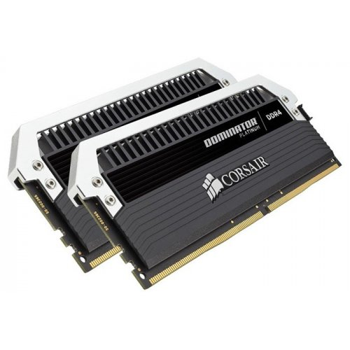 Фото ОЗУ Corsair DDR4 16GB (2x8GB) 3000Mhz Dominator Platinum (CMD16GX4M2B3000C15) Black