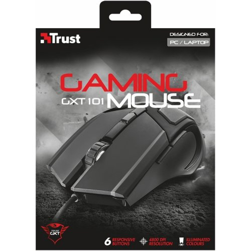 Фото Мышка Trust GXT 101 Gaming (21044) Black