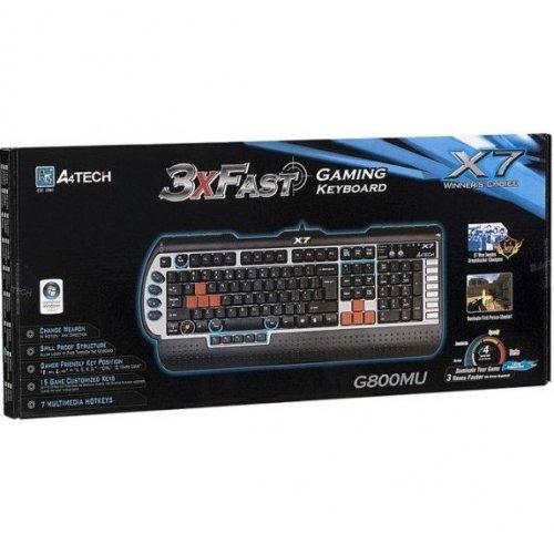Фото Клавиатура A4Tech X7-G800MU PS/2 Black
