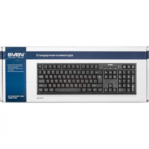 Фото Клавиатура SVEN Standard 304 USB+HUB Black