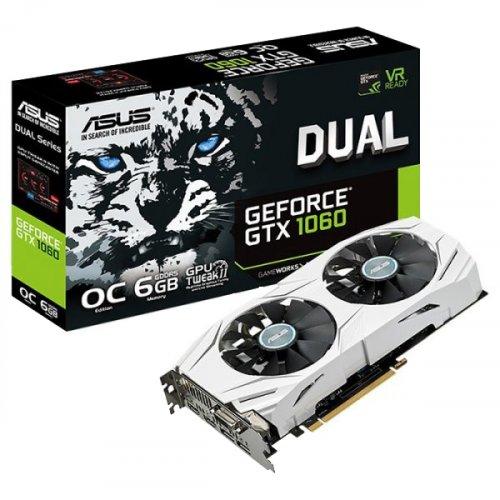 Фото Видеокарта Asus GeForce GTX 1060 Dual OC 6144MB (DUAL-GTX1060-O6G)