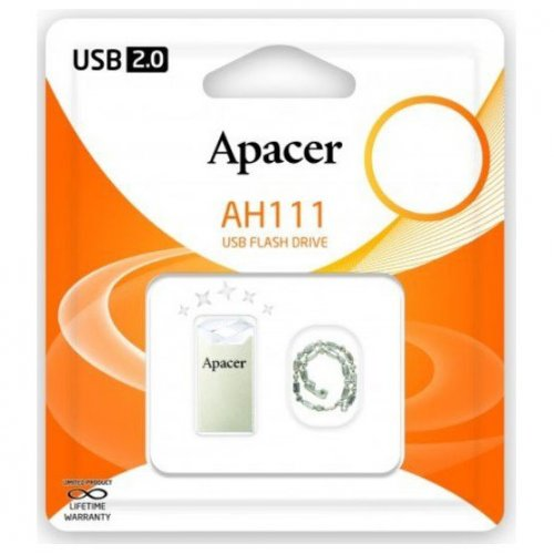 Фото Накопитель Apacer AH111 16GB Crystal (AP16GAH111CR-1)