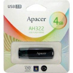 Фото Накопитель Apacer AH322 4GB Black (AP4GAH322B-1)