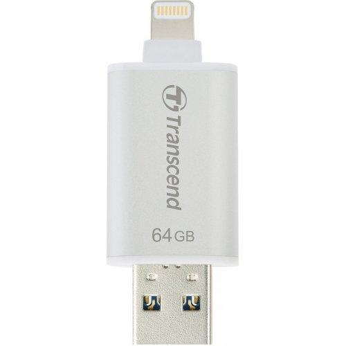 Фото Накопитель Transcend JetDrive Go 300 64GB Lightning USB 3.1 Silver (TS64GJDG300S)