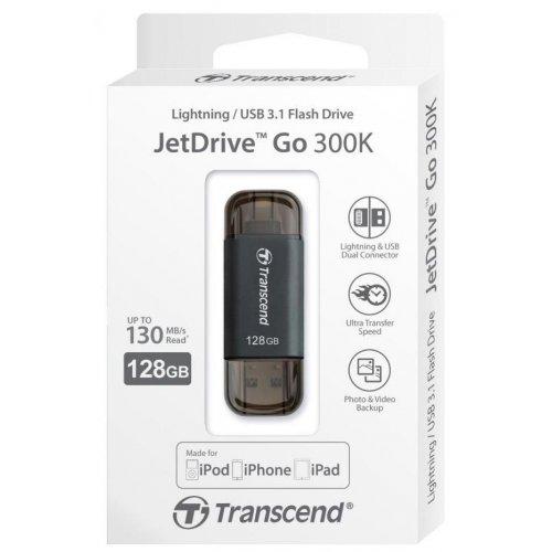 Фото Накопитель Transcend JetDrive Go 300 128GB Lightning USB 3.1 Black (TS128GJDG300K)