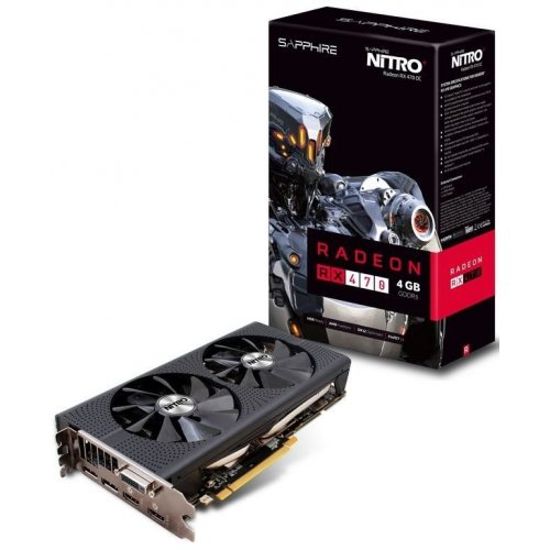 Фото Видеокарта Sapphire Radeon RX 470 NITRO+ 4096MB (11256-01-20G)