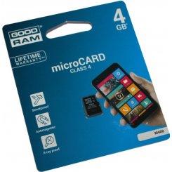 Фото Карта памяти GoodRAM microSDHC 4GB Class 4 (без адаптера) (M400-0040R11)