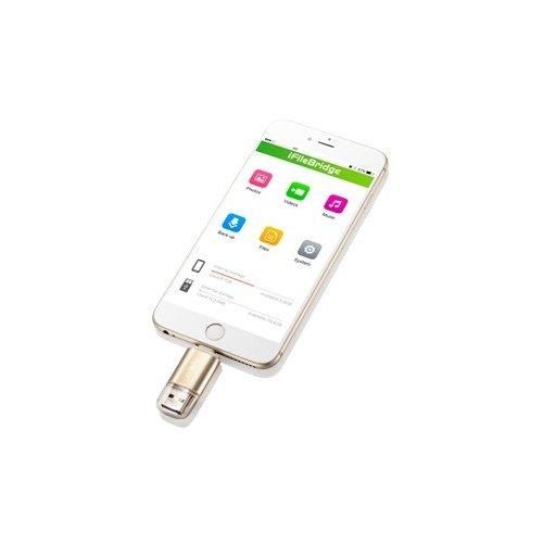 Фото Накопитель Apacer AH190 Lightning Dual USB 3.1 32GB Gold (AP32GAH190C-1)